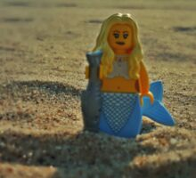 Lego Mermaid at the Beach Sticker