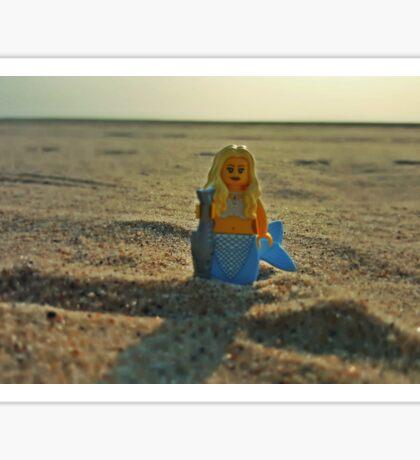 Lego Mermaid at the Beach Sticker