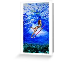 Diva under water Greeting Card