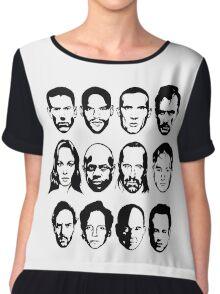 Prison Break- Michael, Sucre, Lincoln, T-bag, Sara, C-note, Abruzzi, Tweener, Haywire, Mahone, Bellick & Kellerman Chiffon Top