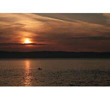 Sea kayaking at sunset Photographic Print