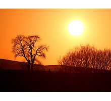 Scottish Countryside Sunset Photographic Print