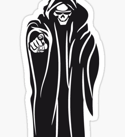 Death hooded evil sunglasses Sticker