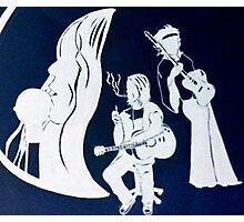 Janis, Kurt and Jimmy Photographic Print