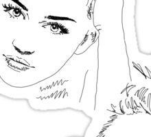 Miley Compilation - Simple Lines Sticker