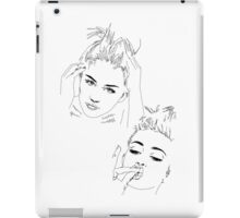 Miley Compilation - Simple Lines iPad Case/Skin