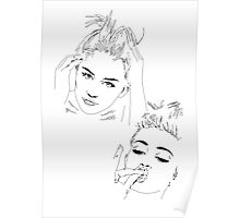 Miley Compilation - Simple Lines Poster