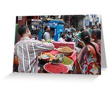Street Scene Begum Bazaar Greeting Card