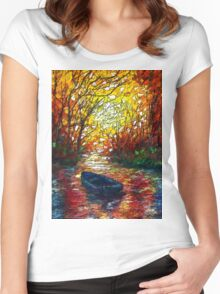 Impression Sunset by Lena Owens Women's Fitted Scoop T-Shirt