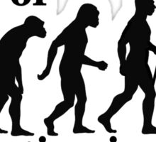 Think of it as Evolution in Action (Black) Sticker