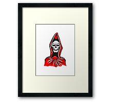 Death hooded robe evil sunglasses Framed Print