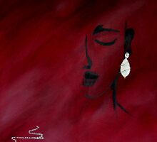 Silver earring by Linda Ridpath