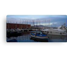 Vesuvius and the Boats II Metal Print