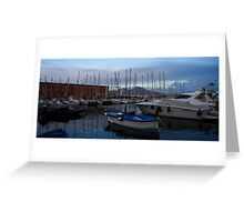 Vesuvius and the Boats II Greeting Card