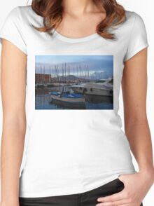 Vesuvius and the Boats II Women's Fitted Scoop T-Shirt