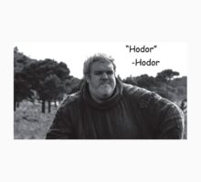 Dashing Hodor by comicsans
