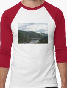 Rolling Ridges, Rolling Clouds Men's Baseball ¾ T-Shirt