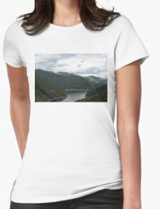Rolling Ridges, Rolling Clouds Womens Fitted T-Shirt