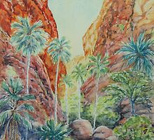 Mini Palms, Purnululu, Kimberly, Australia by Virginia  Coghill