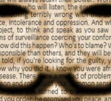 Anonymous - V for Vendetta Sticker