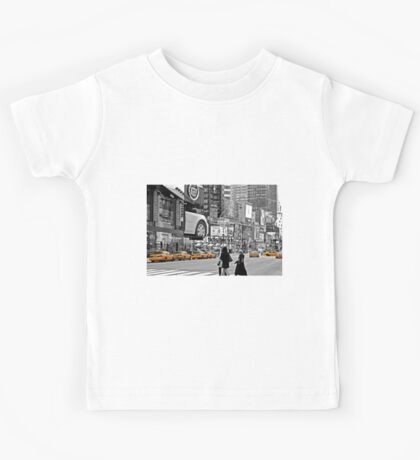 NYC Yellow Cabs Times Square Kids Tee