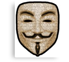Anonymous - V for Vendetta Canvas Print
