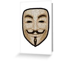 Anonymous - V for Vendetta Greeting Card
