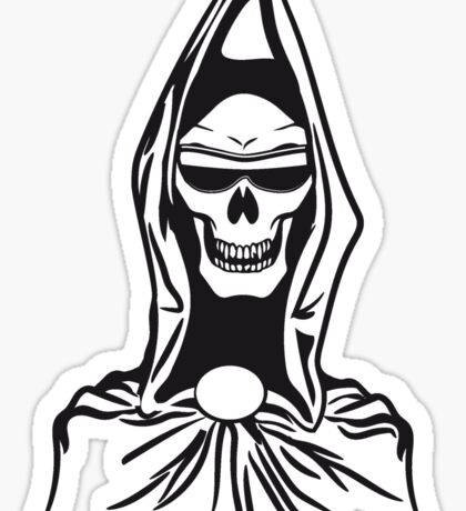 Death hooded robe evil sunglasses Sticker