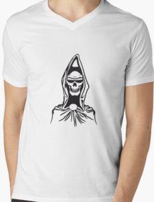 Death hooded robe evil sunglasses Mens V-Neck T-Shirt