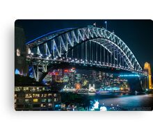 A vivid harbour Canvas Print