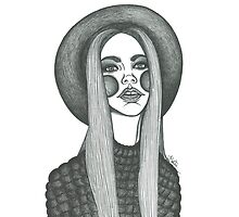 stylish boho fashion illustration  by lbillustration