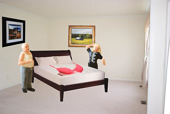 To dispel the idea I never listen to you-SURPRISE..here's that mammory foam mattress you wanted. by Susan Littlefield