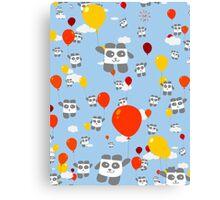 Sky Panda Pattern Canvas Print