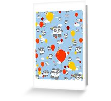Sky Panda Pattern Greeting Card