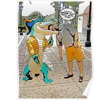 Crocodile Cartoon Poster