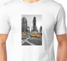 NYC Yellow Cabs Flat Iron Building Unisex T-Shirt