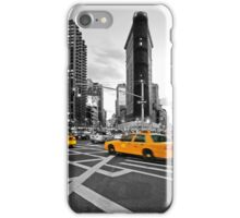 NYC Yellow Cabs Flat Iron Building iPhone Case/Skin
