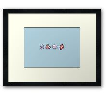 Elemental play time Framed Print