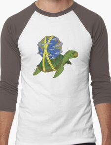 Turtle Earth Men's Baseball ¾ T-Shirt
