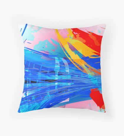 Blue Subway Background Throw Pillow