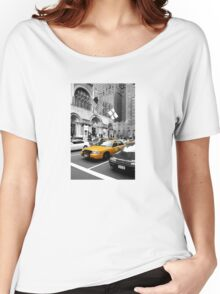 NYC Yellow Cabs Avenue Women's Relaxed Fit T-Shirt