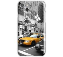 NYC Yellow Cabs Avenue iPhone Case/Skin
