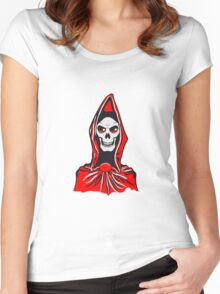 Death hooded robe evil Women's Fitted Scoop T-Shirt