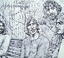 the PINK FLOYD  - drawing portrait by lautir