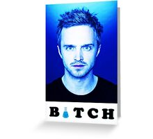 Jesse Pinkman Bitch Greeting Card