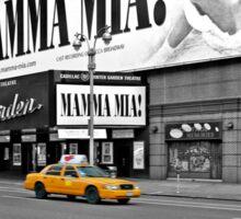 NYC Yellow Cabs Mamma Mia Sticker