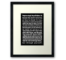 The Wizards Rules Framed Print