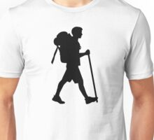 Hiking stick backpack Unisex T-Shirt