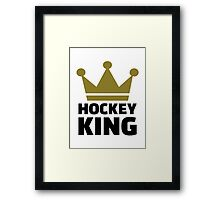 Hockey king Framed Print