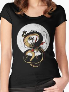 Black Dragon Women's Fitted Scoop T-Shirt